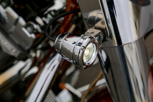Chrome Bullet on Harley