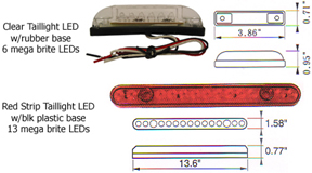 Bluhm enterprises our new surface mount led units for taillights andor third brake lights it is a two function light stop run and will work on any 12 volt electrical aloadofball Choice Image