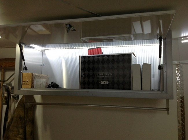 Short LED strip in storage cabnet
